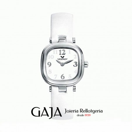 Rellotge dona o nena Viceroy blanc amb caixa d'acer inoxidable cuadrada 46622-99