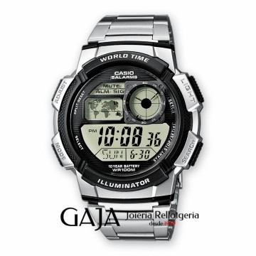 Reloj Casio Digital cadena acero inoxidable AE-1000W-1AVEF