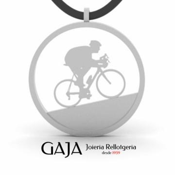 Colgante ciclismo bicicleta carretera de plata