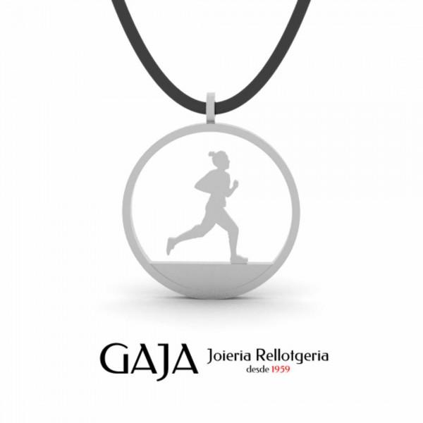 Penjoll de plata dona running
