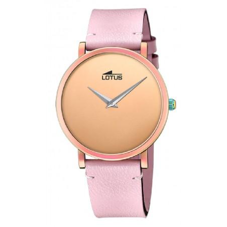 Reloj Lotus de mujer rosa Minimalist con iridiscencia 18778-1