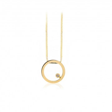 Penjoll cercle d'or i diamant